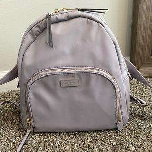 Nylon Purple Medium Backpack